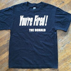 "Donald Trump ""You're Fired!"" Shirt Black Size M"